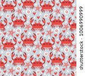 vector seamless pattern with... | Shutterstock .eps vector #1006990999