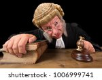 angry judge in extreme wide... | Shutterstock . vector #1006999741