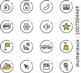 line vector icon set   tea... | Shutterstock .eps vector #1007004469