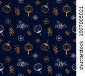 asian pattern. kabuki. japanese ... | Shutterstock .eps vector #1007005021