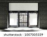 dark gray stone and white cafe... | Shutterstock . vector #1007005339