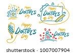 happy doctor's day template set | Shutterstock .eps vector #1007007904