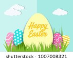 happy easter greeting card. a...   Shutterstock .eps vector #1007008321