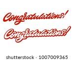 congratulations. premium... | Shutterstock .eps vector #1007009365
