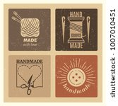 hipster grunge handmade badges... | Shutterstock .eps vector #1007010451