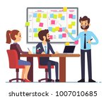 students team work on tasks... | Shutterstock .eps vector #1007010685