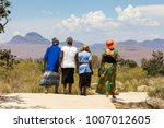 rear view of a group of... | Shutterstock . vector #1007012605