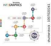 infographics business template... | Shutterstock .eps vector #1007020261