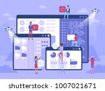 people character decorated web... | Shutterstock .eps vector #1007021671
