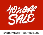40   off sale. premium handmade ... | Shutterstock .eps vector #1007021689