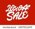 20   off sale. premium handmade ... | Shutterstock .eps vector #1007021695