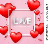 valentine's day  banner...   Shutterstock .eps vector #1007021875