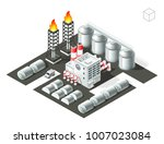isometric high quality city... | Shutterstock .eps vector #1007023084