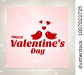 happy valentine's day card with ... | Shutterstock .eps vector #1007023735