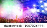 young people dancing and having ... | Shutterstock . vector #1007026444