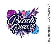 beach please hand written...   Shutterstock .eps vector #1007029927