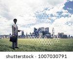 elegant businessman outdoors... | Shutterstock . vector #1007030791