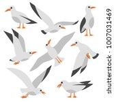 cartoon atlantic seabird ... | Shutterstock .eps vector #1007031469