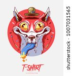 poster  card or t shirt print... | Shutterstock .eps vector #1007031565