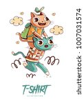 poster  card or t shirt print... | Shutterstock .eps vector #1007031574