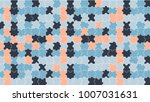 jigsaw colorful puzzle vector... | Shutterstock .eps vector #1007031631