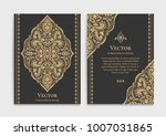 gold vintage greeting card on a ... | Shutterstock .eps vector #1007031865