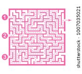 illustration with game maze... | Shutterstock .eps vector #1007035021