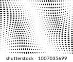 abstract halftone wave dotted... | Shutterstock .eps vector #1007035699