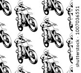 vector pattern with  hand drawn ... | Shutterstock .eps vector #1007036551