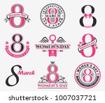 international women's day... | Shutterstock .eps vector #1007037721