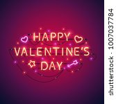 happy valentines day colorful... | Shutterstock .eps vector #1007037784