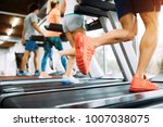picture of people running on... | Shutterstock . vector #1007038075