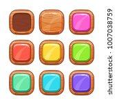 cartoon wooden buttons set....