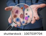 hygiene concept. man is showing ... | Shutterstock . vector #1007039704