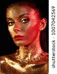 portrait of beautiful woman... | Shutterstock . vector #1007042569