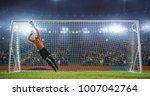 soccer goalkeeper in action on... | Shutterstock . vector #1007042764