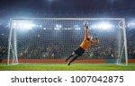 soccer goalkeeper in action on... | Shutterstock . vector #1007042875