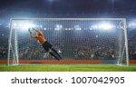 soccer goalkeeper in action on... | Shutterstock . vector #1007042905