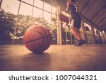 basketball player in action...   Shutterstock . vector #1007044321