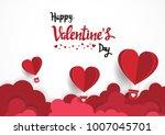 paper art of illustration love... | Shutterstock .eps vector #1007045701