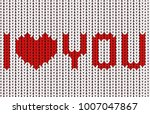 valentine's day vector card | Shutterstock .eps vector #1007047867
