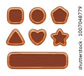 cartoon wooden shapes set....