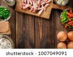 ingredients for preparing... | Shutterstock . vector #1007049091