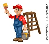 painter vector character  with... | Shutterstock .eps vector #1007050885