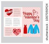 valentines day brochure | Shutterstock .eps vector #1007050924