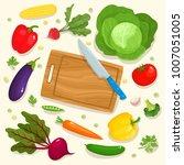 bright vector illustration of... | Shutterstock .eps vector #1007051005