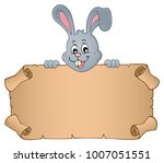 lurking easter bunny with... | Shutterstock .eps vector #1007051551