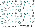 seamless pattern with geometric ... | Shutterstock .eps vector #1007052214