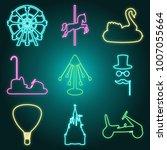 neon style amusement park icon... | Shutterstock .eps vector #1007055664