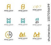 set of letter a h logo icon... | Shutterstock .eps vector #1007056699